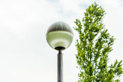 Spherical head lamppost Royalty Free Stock Images