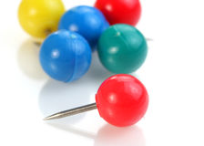Spherical head pins Stock Photo