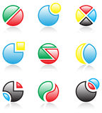 Spherical icons Stock Image