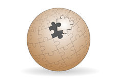 Spherical jigsaw Stock Image