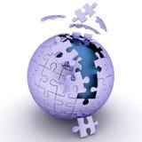 Spherical jigsaw. 3d render illustration Royalty Free Stock Photo