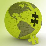 Spherical jigsaw Royalty Free Stock Image
