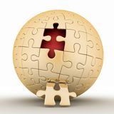 Spherical jigsaw Stock Photo