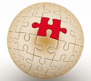 Spherical jigsaw Stock Photos