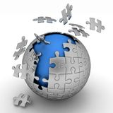 Spherical jigsaw Royalty Free Stock Images