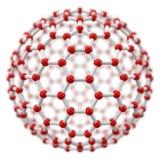 Spherical molecule model on white background. Royalty Free Stock Image