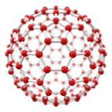 Spherical molecule model on white background. Royalty Free Stock Photos