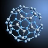 Spherical molecule rendering Royalty Free Stock Photos