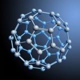 Spherical molecule rendering. High-resolution 3D computer rendering of Fullerene (C60), a spherical molecule Royalty Free Stock Photos