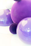Spherical object arrangement in purple Royalty Free Stock Images