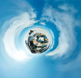 Spherical panorama 360 180 degrees Cape shaman on the island of Stock Photos