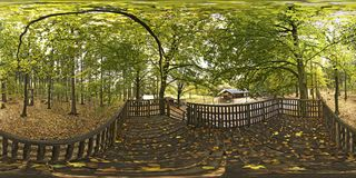 Spherical panorama 360 degrees in the Forest. In Germany Stock Images