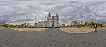 Spherical Panorama of Holy Spirit Cathedral, Minsk, Belarus Royalty Free Stock Images