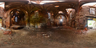 Spherical panorama of Lutheran church of Saint Katerina in the s Stock Photography