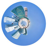 Spherical panorama of Moscow city buildings Stock Image