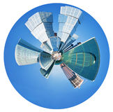 Spherical panorama of Moscow city towers Royalty Free Stock Photo
