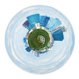 Spherical panorama of Moscow city towers in spring Stock Photos