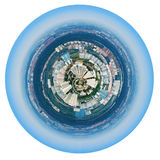 Spherical panorama of Moscow residential district Stock Image