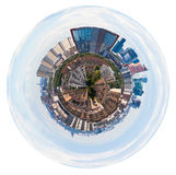 Spherical panorama of Moscow with tower buildings Stock Photo