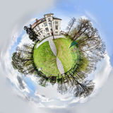 Spherical panorama of park in Przyszowice Royalty Free Stock Photo
