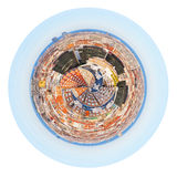 Spherical panorama residential area in Barcelona Royalty Free Stock Photos