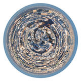 Spherical panorama residential area of Paris Stock Photography