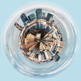 Spherical panorama view on the district of Moscow Stock Images