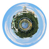 Spherical panoramic view of Kiev Pechersk Lavra Stock Photography