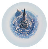 Spherical Paris skyline with Hotel des Invalides Royalty Free Stock Photography