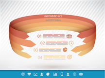 Spherical presentation template Royalty Free Stock Image