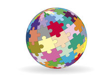 Spherical puzzle Stock Photography