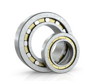 Spherical radial bearings. Isolated white background. 3D illustration Stock Photography