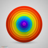 Spherical rainbow. Vector Royalty Free Stock Photos