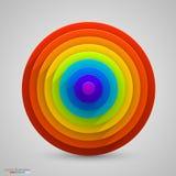 Spherical rainbow. Vector Royalty Free Stock Photos