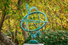Spherical Sundial. In a garden setting royalty free stock image