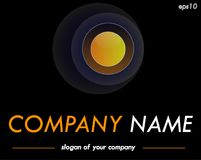 Spherical vector logo template, ready logotype for a company or Royalty Free Stock Photo