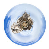 Spherical view of cathedral Notre-Dame de Paris Royalty Free Stock Photography