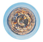 Spherical view of district in Barcelona, Spain Royalty Free Stock Photography