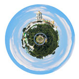 Spherical view of Kiev Pechersk Lavra Royalty Free Stock Image