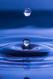 Spherical water droplet Stock Photo