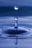 Spherical water droplet Royalty Free Stock Photos