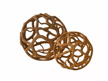 Spherical Wooden Objects for Interior Design Royalty Free Stock Image