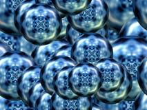 Sphericals do borrão do caleidoscópio ilustração do vetor