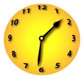 Spherised Clock. Clockwork Orange a Healthy Symbol Royalty Free Stock Image