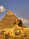 Sphinx 02. The Sphinx guarding the pyramids on the Giza plateu in Cairo, egypt Stock Photography