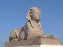 Sphinx. Egyptian Sphinx by Pompey's Pillar at the Temple of Serapis Stock Photography