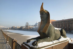 Sphinx. Egyptian bridge.Sphinx Royalty Free Stock Images