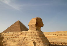 Sphinx. In Giza - travel to Egypt Royalty Free Stock Images