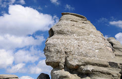 Sphinx. Image of Sphinx rock in Bucegi Mountains, Romania Royalty Free Stock Images