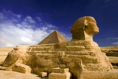 Sphinx. Classic view of sphinx in egypt